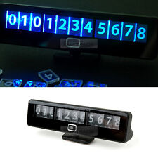 Black Label Light Sensor LED Phone Number Parking Puzzle Plate for All Vehicles