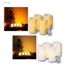 LED Advent Kerzen 4er Set Adventskranz Adventskerzen mit Fernbedienung und LEDs
