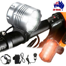 50000Lm 4x XM-L T6 LED Bike Bicycle Head Light Headlamp Battery+Tail Rear Light