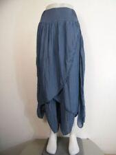 Faldas de mujer de color principal azul de seda