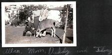 VINTAGE PHOTOGRAPH 1940'S BOY-SCOUT CUB-SCOUT UNIFORM COW BUGLE CALIFORNIA PHOTO