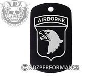 Dog Tag Military ID K9 Customized Laser BLK ARMY Airborne 101st