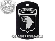 Dog Tag Military ID K9 Customized Laser Engraved BLK Army Airborne 101st