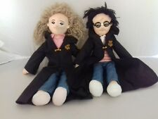 """Vintage 2001 Harry Potter and Hermione 12"""" soft dolls. FAST POSTAGE"""