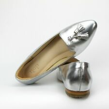 NEWEST!!! S500 - Silver Luxury Handmade Genuine Leather Women Shoes