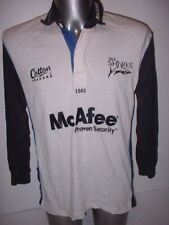 Sale Sharks Shirt Jersey Adult Large Rugby Union Premiership Cotton Traders LS