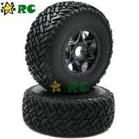 2pc 1/8 Reifen & Hex 17mm Felge Für RC 1:8 Short Course Off Road Buggy Car