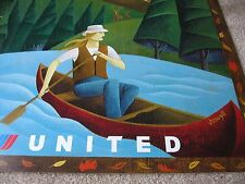 UNITED AIRLINES CANADA TRAVEL POSTER JODY HEWGILL ORIGINAL  ISSUE 2001 NEW