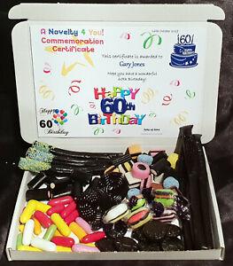 Liquorice Retro Sweet Gift Box Personalised Allsorts 50th60th 70th 80th Birthday
