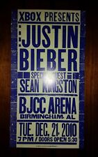 JUSTIN BIEBER Birmingham HATCH SHOW PRINT 2010 Tour Poster SEAN KINGSTON Jackson