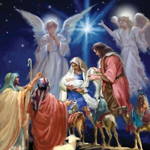 A Child is Born Three Kings Christmas Single Xmas Card with Lenticular 3D effect