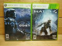 Xbox 360 Video Game Lot Halo 3 ODST + Halo 4 First Person Shooter