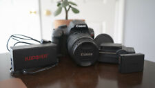 canon eos rebel t6 dslr camera with 18-55mm lens with battery accessories
