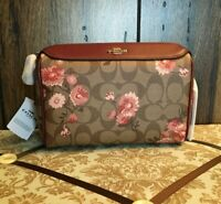 Coach BENNETT CROSSBODY SIGNATURE CANVAS WITH PRAIRIE DAISY CLUSTER PRINT