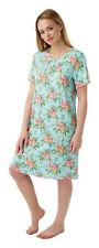 Ladies Soft Touch Exotic Bird Print Nightdress Sizes 12 - 30 28/30 Aqua