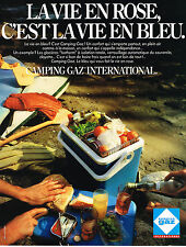 PUBLICITE ADVERTISING 114  1981  CAMPING GAZ INTERNATIONAL  glacière Isotherm