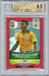 2014 Panini Prizm World Cup Stars Red /149 #41 Pele (Brazil) BGS 9.5 Gem Mint