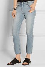 New $550 The Row Ashland Light Blue Mid-Rise Denim Jeans sz 8/M