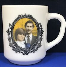 Vintage Charles & Diana Cup Arcopol France Royal Wedding White Pressed Glass