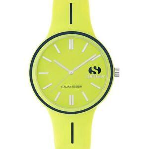 Orologio Uomo SUPERGA STC019 Silicone Giallo Lime Colorato Sub 50mt NEW