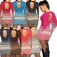 Women Jumper Mini Dress Top Ladies Pullover Clubbing Party Blouse Size 6 8 10 12