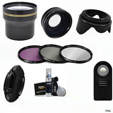 67mm WIDE ANGLE LENS + 67mm 3.7x TELEPHOTO LENS  REMOTE +3 FILTERS FOR CANON T6