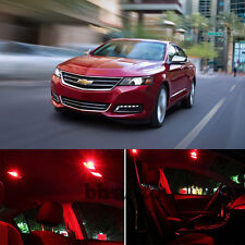 For 14-17 Chevy Chevrolet Impala LED Light Interior Red LED Bulb Package Qty = 7