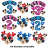 Disney Mickey Minnie Mouse Birthday Foil Latex Balloons Blue Pink Number Sets