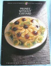 Vintage Dole California Pitted Prunes PRUNES WITHOUT CUSTARD Cookery Booklet