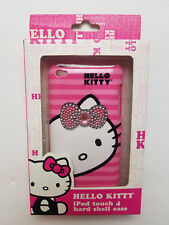 NEW Hello Kitty IPod Touch 4 Hard Shell Case with Rhinestones Pink