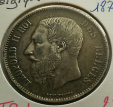 Belgique / Belgium , 5 Francs 1870 , TTB+