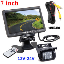 "Truck/Rv/Camper/Commercia l Vehicle Backup Camera+7"" Hd Monitor Rear View System"