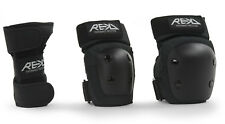 Rekd - Haevy Duty Triple Pad Set Junior - Black- Skate Protection