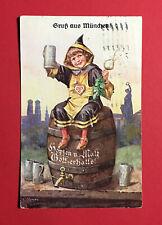 Reklame Litho Ak MÜnchen 1899 Hofbräuhaus Bier Bierkrug Sammeln & Seltenes 48630