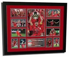 STEVEN GERRARD LIVERPOOL FC SIGNED LIMITED EDITION FRAMED MEMORABILIA