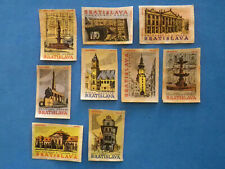 Etiquette d'allumette ancienne 9 matchbox label Tchécoslovaquie Bratislava