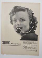 Original Print Ad BELL TELEPHONE SYSTEM Good News Long Distance