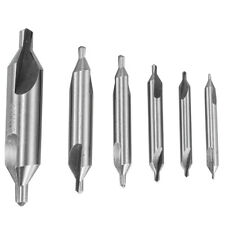 6pcs HSS Center Drill Bits Set Combined Countersinks Tool 60° 5/3/2.5/2/1.5/1mm