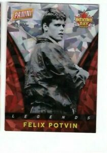 2013-14 Panini Boxing day series cracked ice parallel Felix Potvin 21/25