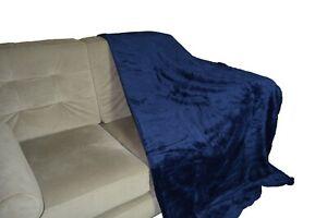 Navy / Dark Blue Mink Sofa / Bed sofa large throw blanket