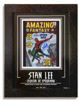 Stan Lee Signed Amazing Fantasy #15 Spider-Man Comic Museum Frame Fan Expo COA
