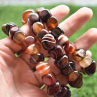 Madagascar Natural Decorative Pattern Silk Agate Energy Healing Bracelet