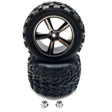 Traxxas 1/16 Pre-Mounted Talon Tires w/Gemini Wheels (Black Chrome)Part#TRA7174A