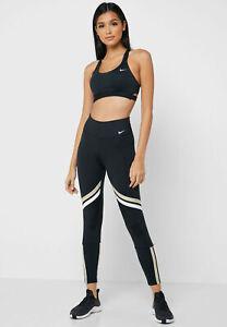 Nike One Icon Lauftights Damen Leggings Sport Laufen Hose BV5362-010 Fitness L
