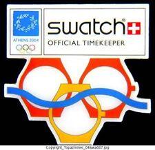 Olympic Pin Athens 2004 Swatch Sponsor Sport Gymnastics