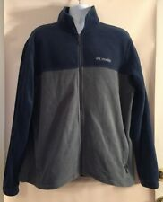 Men's COLUMBIA Blue & Gray Full-Zip Fleece Zipper Pockets Jacket Size XL *Read