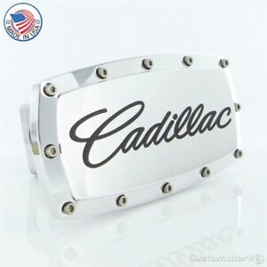 Cadillac Logo Billet Tow Hitch Cover (Chrome)
