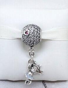 Genuine Pandora Charm Silver DISNEY Floating Minnie Mouse Pave Dangle 797171CZ