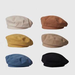 Women Girl Beret Artist Warm cotton Octagonal Flat Cap autumn Winter Beanie Hat
