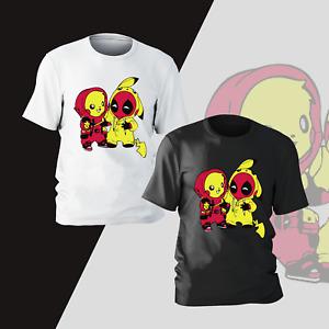 Deadpool Pikachu Funny T-Shirt Mens Kids Pokemon Anime Marvel Tee Gift Present